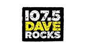 107.5 Dave Rocks logo