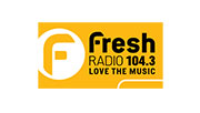 Fresh Radio 104.3 logo